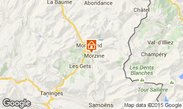 Map Morzine Apartment 39340
