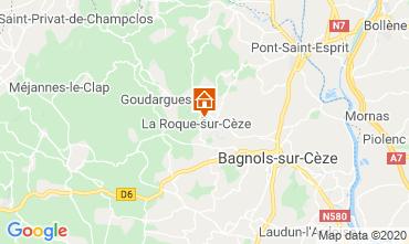 Map Uzès Self-catering property 69702