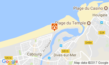 Map Cabourg Apartment 111139