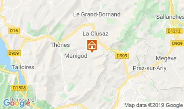 Map La Clusaz Apartment 112201