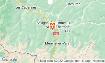 Map Ax Les Thermes Studio apartment 3911