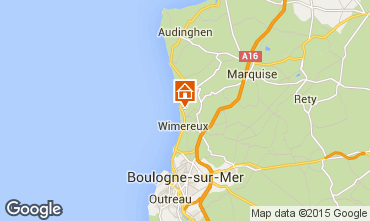 Map Wimereux Villa 23968