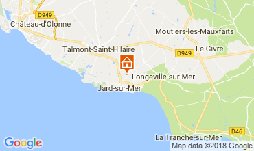 Map Jard sur mer Self-catering property 113577
