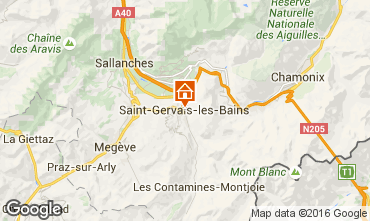 Map Saint Gervais Mont-Blanc Studio apartment 103150