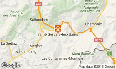 Map Saint Gervais Mont-Blanc Studio apartment 103150