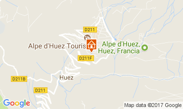 Map Alpe d'Huez Apartment 112014