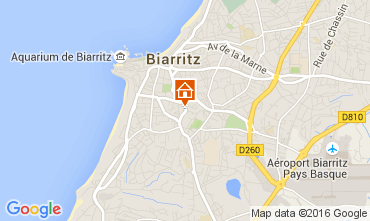 Map Biarritz Studio apartment 105462