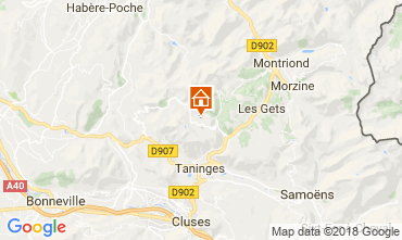 Map Praz de Lys Sommand Studio apartment 115890