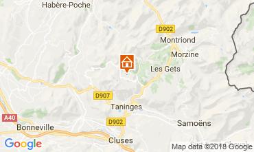 Map Praz de Lys Sommand Studio apartment 115890
