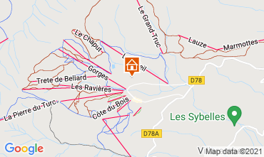 Map La Toussuire Apartment 111695