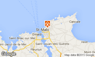 Map Saint Malo Studio apartment 26263