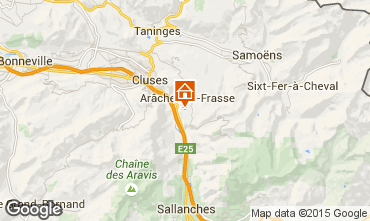 Map Les Carroz d'Araches Studio apartment 27715