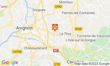 Map Isle sur la Sorgue Studio apartment 76078