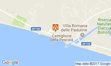 Map Castiglione della Pescaia Apartment 80873