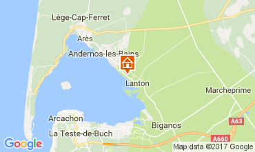 Map Andernos les Bains Self-catering property 103208