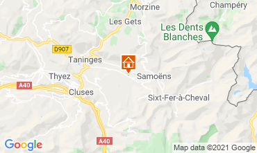 Map Morillon Grand Massif Studio apartment 65801