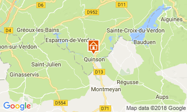Map Sainte-Croix-du-Verdon Villa 114381
