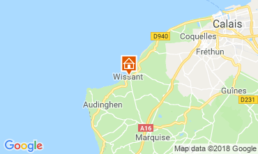 Map Wissant Self-catering property 116608