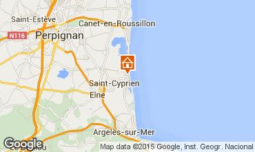Map Saint Cyprien Plage Studio apartment 8732