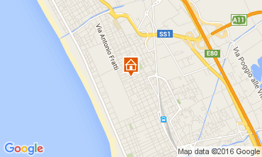 Map Viareggio Apartment 104111