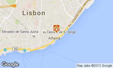 Map Lisbon Studio apartment 23997