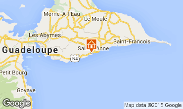 Map Sainte Anne (Guadeloupe) Bungalow 8023