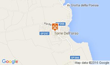 Map Torre dell'Orso Studio apartment 103853