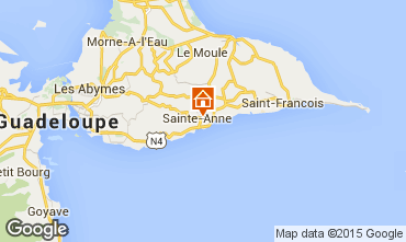 Map Sainte Anne (Guadeloupe) Self-catering property 54345