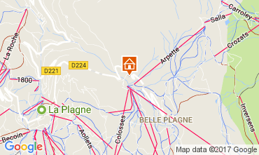 Map La Plagne Apartment 112262