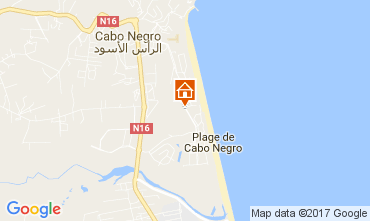 Map Cabo Negro Apartment 108343