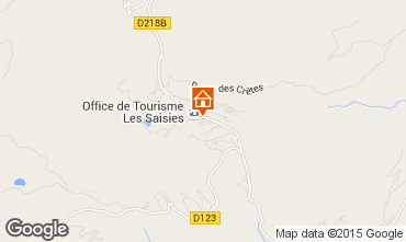 Map Les Saisies Studio apartment 70264