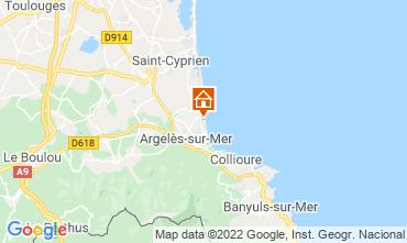 Map Argeles sur Mer Apartment 93461
