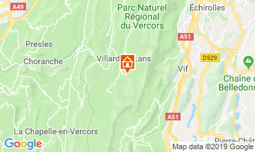 Map Villard de Lans - Corrençon en Vercors Studio apartment 68518