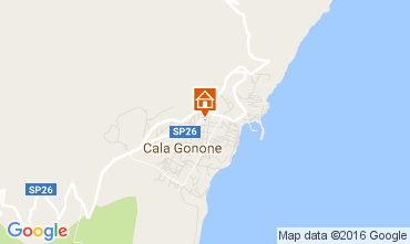 Map Cala Gonone Apartment 106231