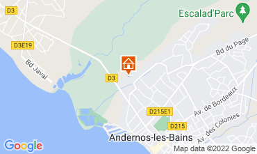 Map Andernos les Bains Self-catering property 81528