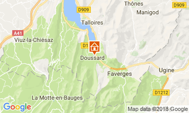 Map Annecy Apartment 115180