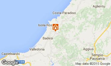 Map Trinità d'Agultu e Vignola Apartment 93642