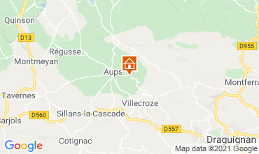 Map Cotignac Villa 95613