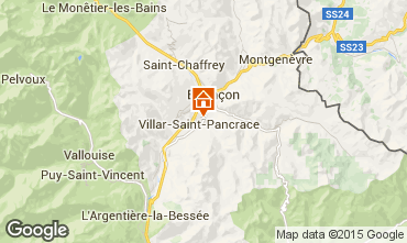 Map Serre Chevalier Chalet 66793