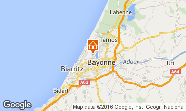 Map Anglet Apartment 56984