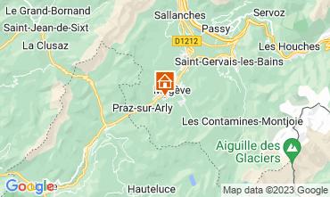 Map Megève Apartment 25144