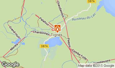 Map Tignes Studio apartment 66268