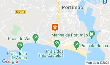 Praia Da Rocha Holiday Rentals - Praia map