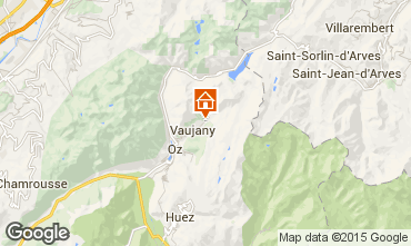 Map Vaujany Apartment 3327