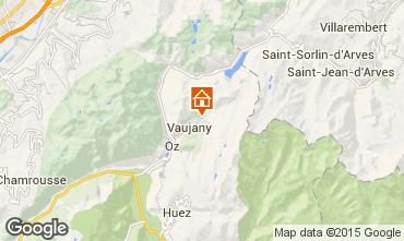Map Vaujany Apartment 3327
