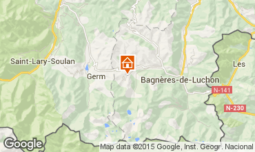 Map Peyragudes Self-catering property 65507