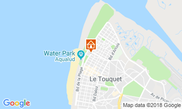 Map Le Touquet Studio apartment 117441