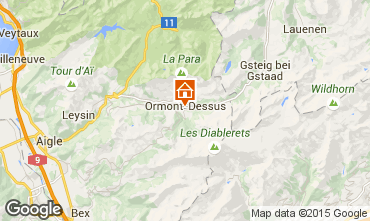 Map Les Diablerets Apartment 73953