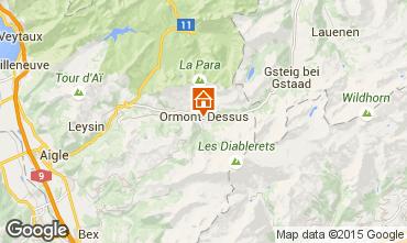 Map Les Diablerets Apartment 73953