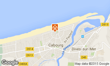 Map Cabourg Studio apartment 10765